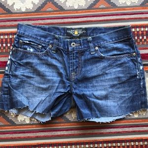 Lucky Brand Cuttoff Jeans Shorts sz 26
